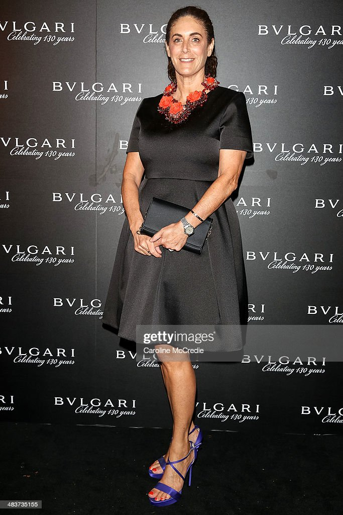 Jackie Frank attends the 130th Anniversary of Bvlgari Gala Dinner on April 10, 2014 in Sydney, Australia.