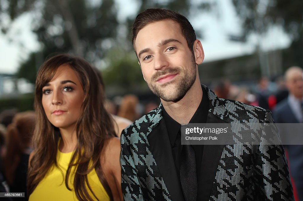 Jackie Ganger and recording artist Ryan Lewis attend the 56th GRAMMY Awards at Staples Center on January 26, 2014 in Los Angeles, California.