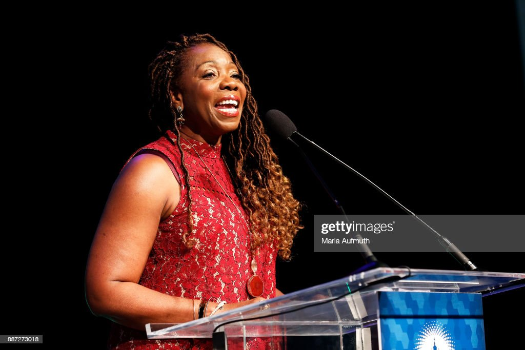Jackie Glenn, vice president, global diversity and inclusion at Dell Technologies, speaks at the Opening Night of the Massachusetts Conference for Women at the Boston Convention Center on December 6, 2017 in Boston, Massachusetts.