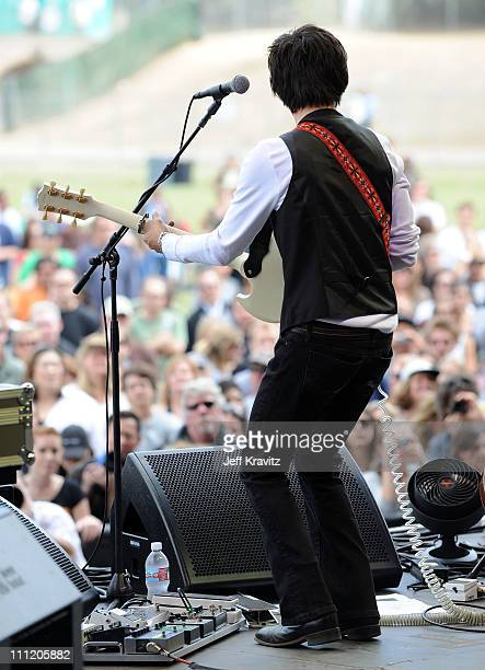 Jackie Greene performs onstage during the 2008 Outside Lands Music And Arts Festival held at Golden Gate Park on August 24 2008 in San Francisco...