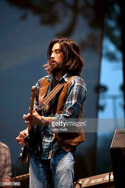 Jackie Greene performs with 'The Jackie Greene Band' at The Hardly Strictly Bluegrass festival in Golden Gate Park in San Francisco California on...