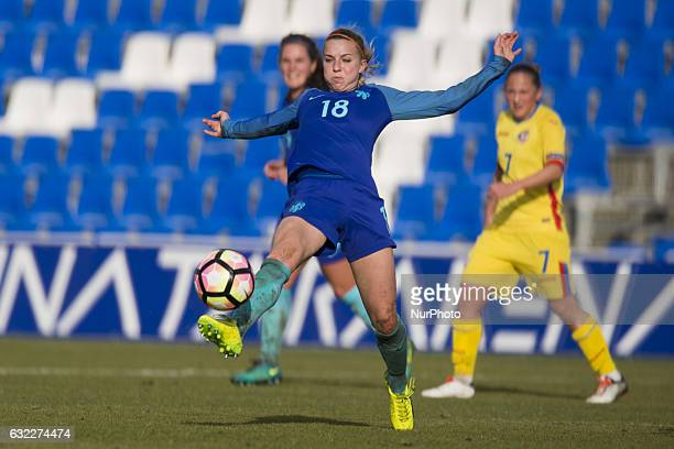 Jackie Groenen during the preseason friendly match between national women's The Netherlands vs Romania in Pinatar Arena San Pedro del Pinatar Murcia...