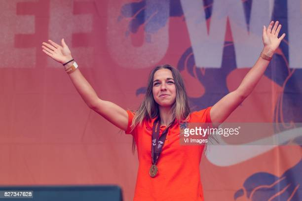 Jackie Groenen of Holland Women during the honoring of the Netherlands women team at Park Lepelenburg on August 07 2017 in Utrecht the Netherlands