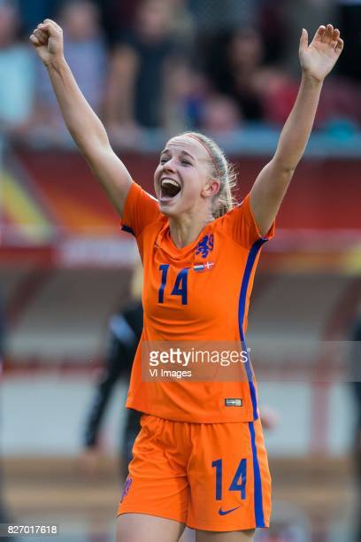 Jackie Groenen of Holland Women during the UEFA WEURO 2017 final match between The Netherlands and Denmark at the Grolsch Veste on August 06 2017 in...