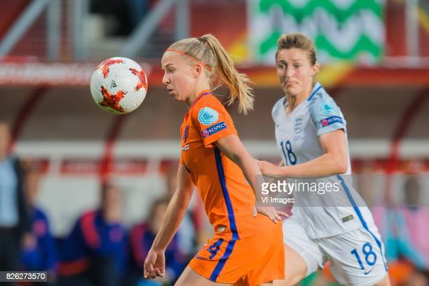 Jackie Groenen of Holland Women Ellen White of England women during the semifinal UEFA WEURO 2017 match between The Netherlands and England at the...