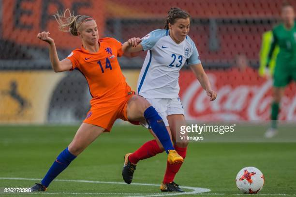 Jackie Groenen of Holland Women Francesca Kirby of England women during the semifinal UEFA WEURO 2017 match between The Netherlands and England at...