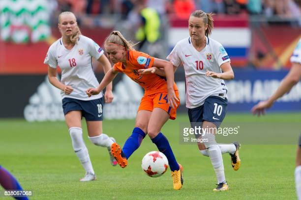 Jackie Groenen of the Netherlands and Caroline Graham Hansen of Norway battle for the ball during their Group A match between Netherlands and Norway...