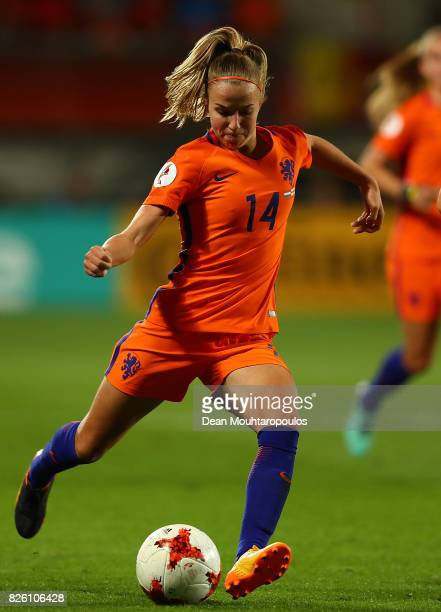 Jackie Groenen of The Netherlands in action during the UEFA Women's Euro 2017 Semi Final match between Netherlands and England at De Grolsch Veste...