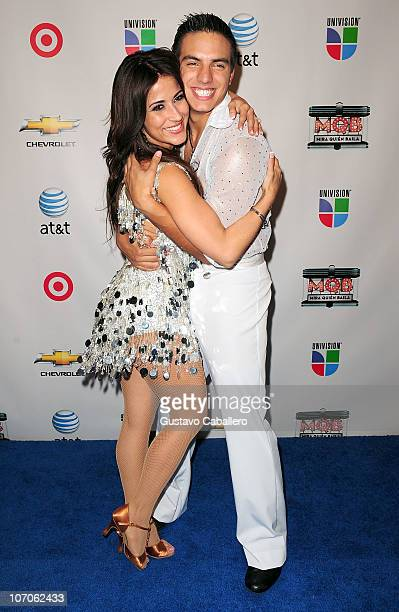 Jackie Guerrido and Vadhir Derbez attend the grand finale of Univision's Mira Quien Baila at Greenwich Studios on November 21 2010 in Miami Florida