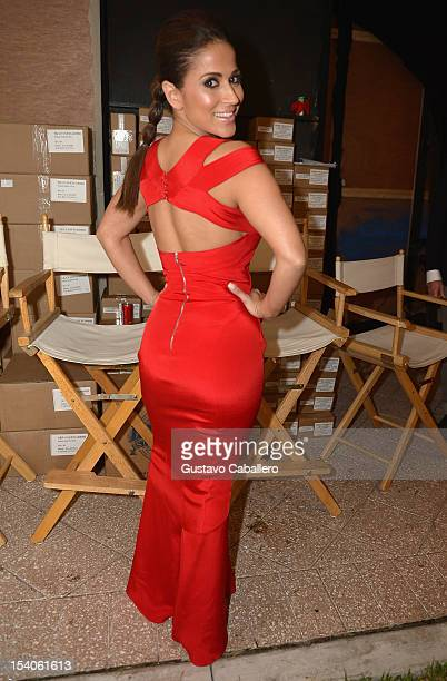 Jackie Guerrido attends the Red Dress Fashion Show at Funkshion to benefit Go Red For Women on October 12 2012 in Miami Beach Florida