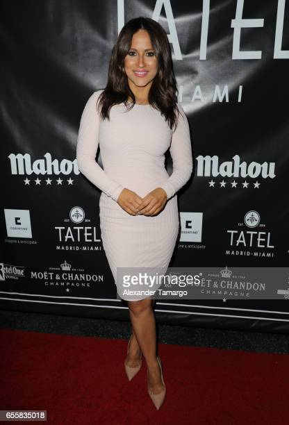Jackie Guerrido is seen arriving at the grand opening celebration of TATEL Miami on March 20 2017 in Miami Beach Florida
