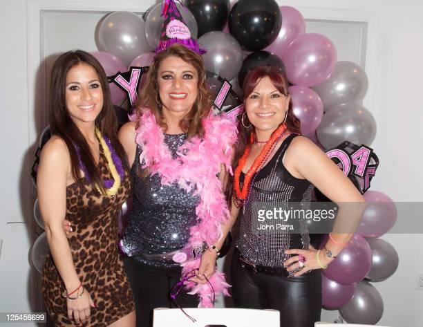 Jackie Guerrido Rosa Gloria Chagoyan and Diana Reyes attend the birthday celebration for Rosa Gloria Chagoyan at La Lupita on October 14 2010 in...