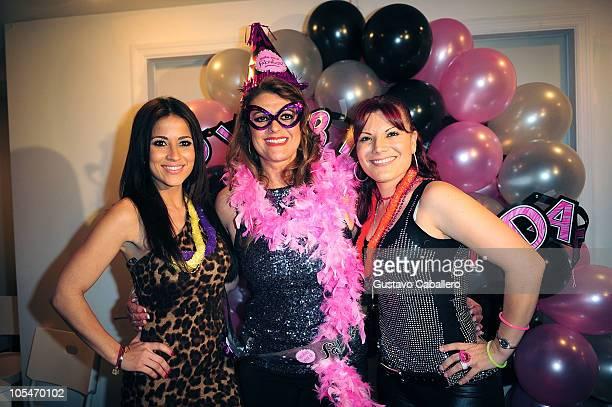 Jackie GuerridoRosa Gloria Chagoyan and Diana Reyes attend the birthday celebration for Rosa Gloria Chagoyan at La Lupita on October 14 2010 in Miami...