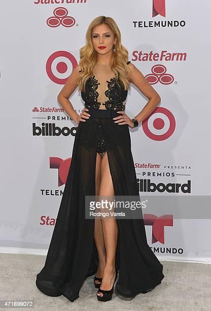 Jackie Hernandez arrives at 2015 Billboard Latin Music Awards presented bu State Farm on Telemundo at Bank United Center on April 30 2015 in Miami...