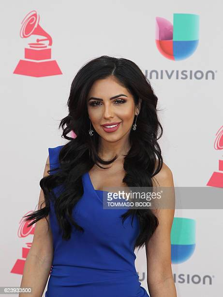 Jackie Hernandez arrives for the 17th Annual Latin Grammy Awards on November 17 in Las Vegas Nevada / AFP / Tommaso Boddi