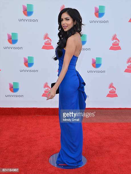 Jackie Hernandez attends the 17th Annual Latin Grammy Awards at TMobile Arena on November 17 2016 in Las Vegas Nevada