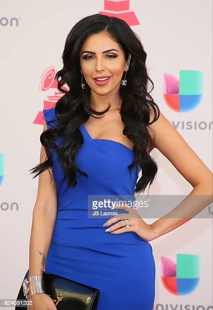 Jackie Hernandez attends the 17th Annual Latin Grammy Awards on November 17 2016 in Las Vegas Nevada