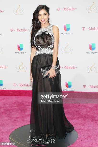 Jackie Hernandez attends Univision's 29th Edition of Premio Lo Nuestro A La Musica Latina at the American Airlines Arena on February 23 2017 in Miami...