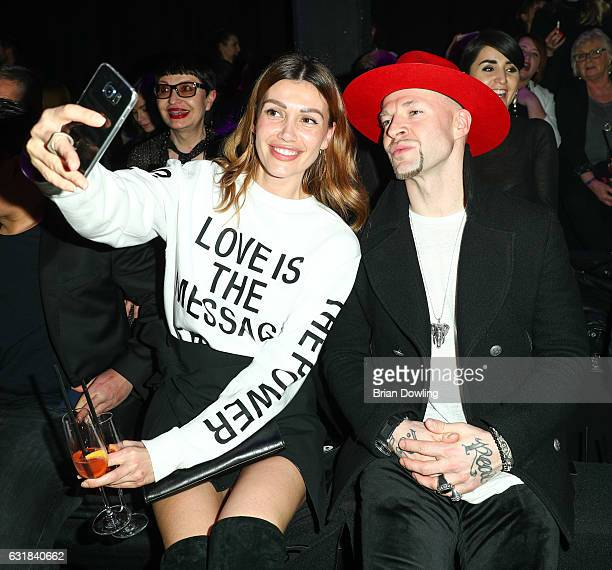 Jackie Hide and Culcha Candela attend the Maybelline Hot Trendsxhbition 2017 show during the MercedesBenz Fashion Week Berlin A/W 2017 at Motorenwerk...