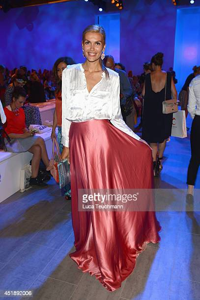Jackie Hide attends the Glaw show during the MercedesBenz Fashion Week Spring/Summer 2015 at Erika Hess Eisstadion on July 9 2014 in Berlin Germany