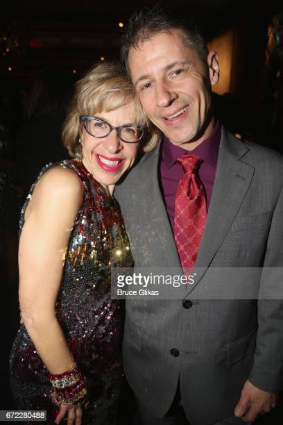 Jackie Hoffman and husband Steven Smyth pose at the opening night after party for the new musical 'Charlie and The Chocolate Factory' on Broadway at...