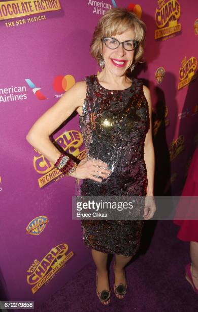Jackie Hoffman at the opening night after party for the new musical 'Charlie and The Chocolate Factory' on Broadway at Pier 60 on April 23 2017 in...