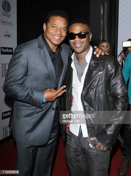 Jackie Jackson and Ray J arrive at a fashion night held at SupperClub Los Angeles on March 16 2011 in Los Angeles California