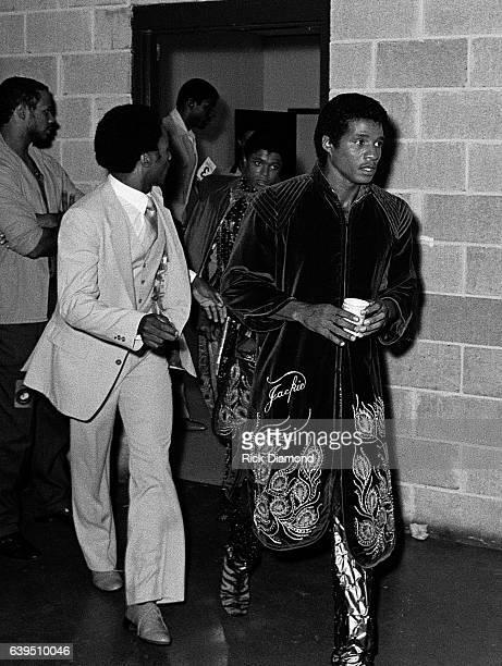 Jackie Jackson backstage during The Jacksons Triumph Tour at The Omni Coliseum in Atlanta Georgia July 22 1981