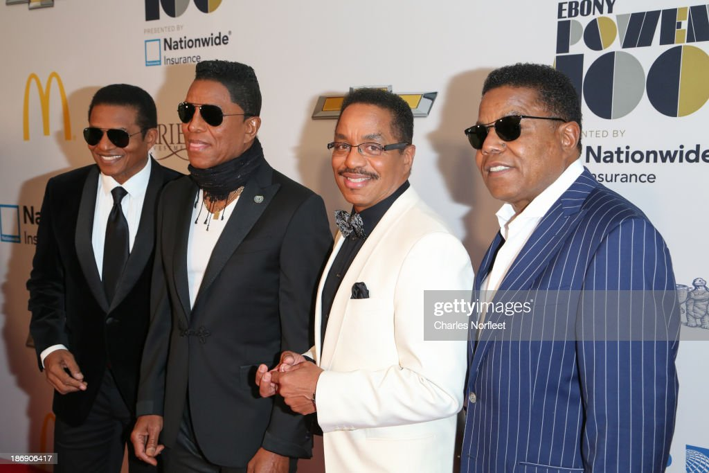<a gi-track='captionPersonalityLinkClicked' href=/galleries/search?phrase=Jackie+Jackson&family=editorial&specificpeople=212794 ng-click='$event.stopPropagation()'>Jackie Jackson</a>, <a gi-track='captionPersonalityLinkClicked' href=/galleries/search?phrase=Jermaine+Jackson&family=editorial&specificpeople=204742 ng-click='$event.stopPropagation()'>Jermaine Jackson</a>, <a gi-track='captionPersonalityLinkClicked' href=/galleries/search?phrase=Marlon+Jackson&family=editorial&specificpeople=914632 ng-click='$event.stopPropagation()'>Marlon Jackson</a> and <a gi-track='captionPersonalityLinkClicked' href=/galleries/search?phrase=Tito+Jackson&family=editorial&specificpeople=216556 ng-click='$event.stopPropagation()'>Tito Jackson</a> attend the 2013 EBONY Power 100 List Gala at Frederick P. Rose Hall, Jazz at Lincoln Center on November 4, 2013 in New York City.