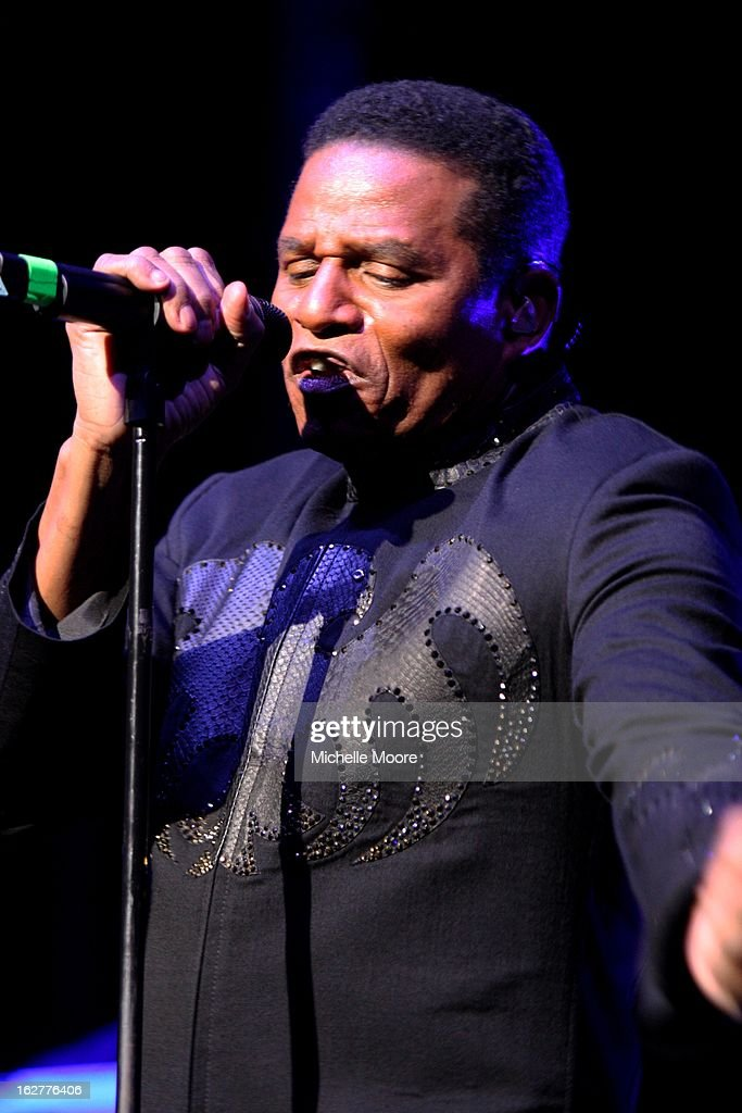 Jackie Jackson performs at NIA Arena on February 26, 2013 in Birmingham, England.