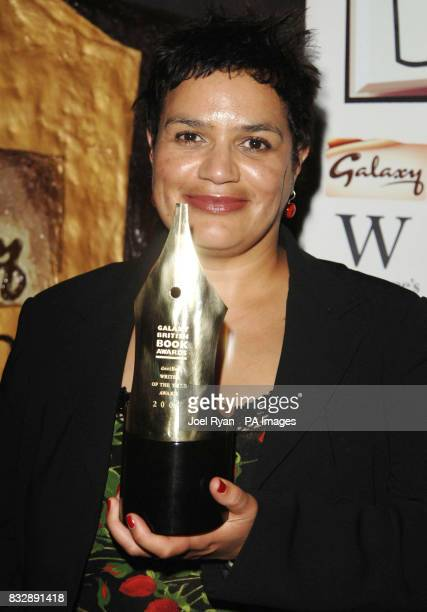 Jackie Kay with the Decibel Writer of the Year award at the Galaxy British Book Awards 2007 at the Grosvenor House Hotel in central London