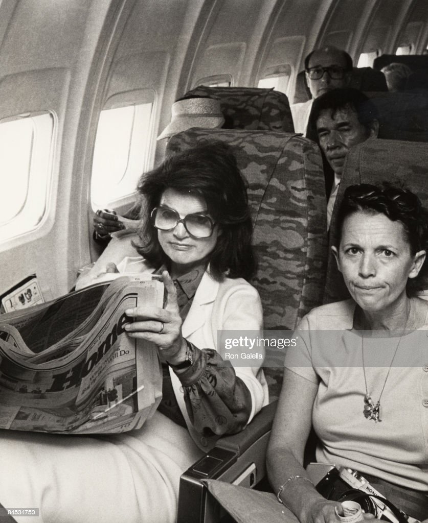 Jackie Kennedy Onassis and her maid Mary