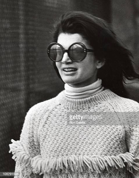 Jackie Kennedy Onassis during Jackie Onassis and Ari Onassis Sighting At Le Cote Basque October 6 1969 at La Cote Basque Restaurant in New York City...