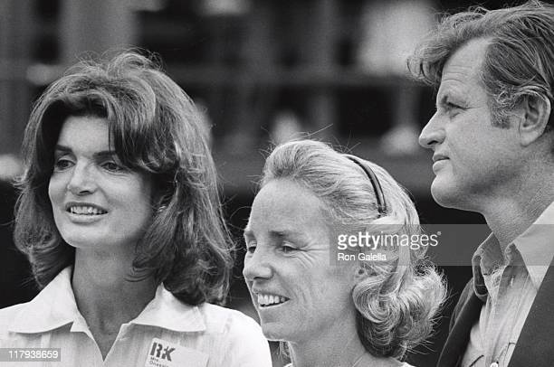 Jackie Kennedy Onassis Ethel Kennedy and Ted Kennedy