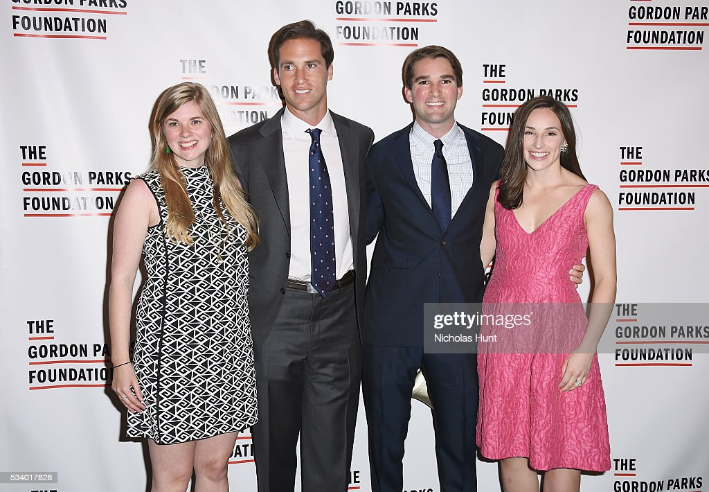 Jackie Kunhardt, Peter Kunhardt Jr, George Kunhardt and Sarah Kunhardt attend the 2016 Gordon Parks Foundation awards dinner at Cipriani 42nd Street on May 24, 2016 in New York City.