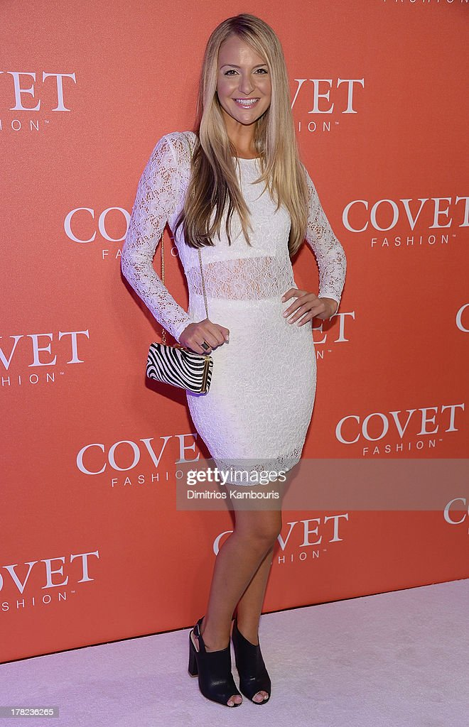 <a gi-track='captionPersonalityLinkClicked' href=/galleries/search?phrase=Jackie+Miranne&family=editorial&specificpeople=9124749 ng-click='$event.stopPropagation()'>Jackie Miranne</a> attends the COVET Fashion Launch Event at 82 Mercer on August 27, 2013 in New York City.
