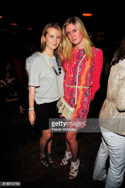 Jackie Nasser and Kate Nahon attend The Target Kaleidoscopic Fashion Spectacular Lights up New York City at The Standard on August 18 2010 in New...