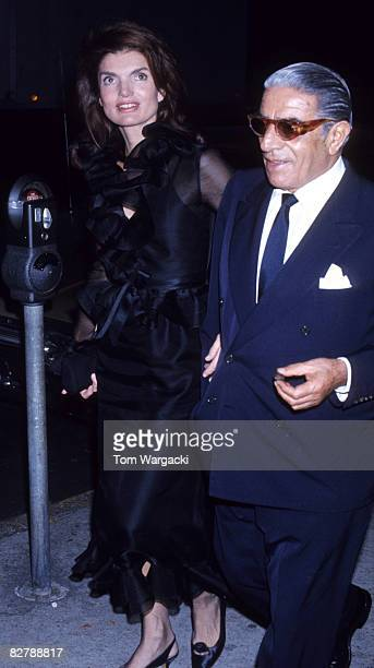 Jackie Onassis and Aristotle Onassis
