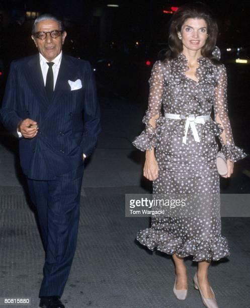 Jackie Onassis and husband Aristotle Onassis