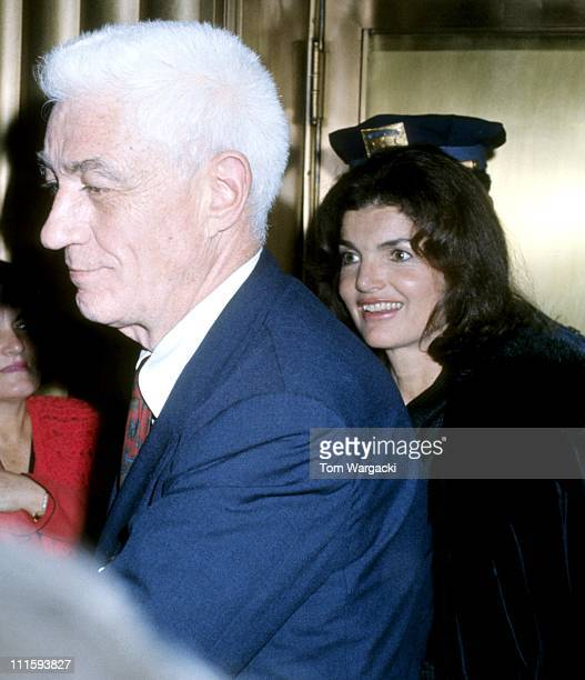 Jackie Onassis and Oliver Smith during Jackie Onassis Sighting December 7 1973 in New York City United States