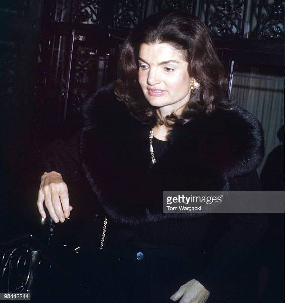 Jackie Onassis at the '21 Club' New York City March 2 1972