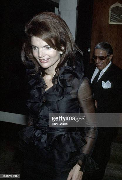 Jackie Onassis during Jackie Onassis and Ari Onassis Sighting at La Cote Basque September 28 1970 at La Cote Basque in New York City New York United...