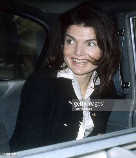 Jackie Onassis during Jackie Onassis vs Ron Galella Photographer for Harassment Trial March 8 1972 at Federal Courthouse in New York City United...