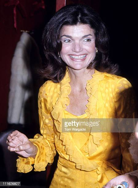 Jackie Onassis during Jacqueline Kennedy Onassis At Metropolitan Opera House at Metropolitan Opera House in New York United States