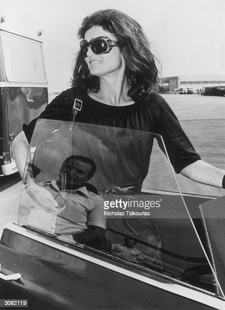 Jackie Onassis the widow of the assassinated American President John F Kennedy in Athens