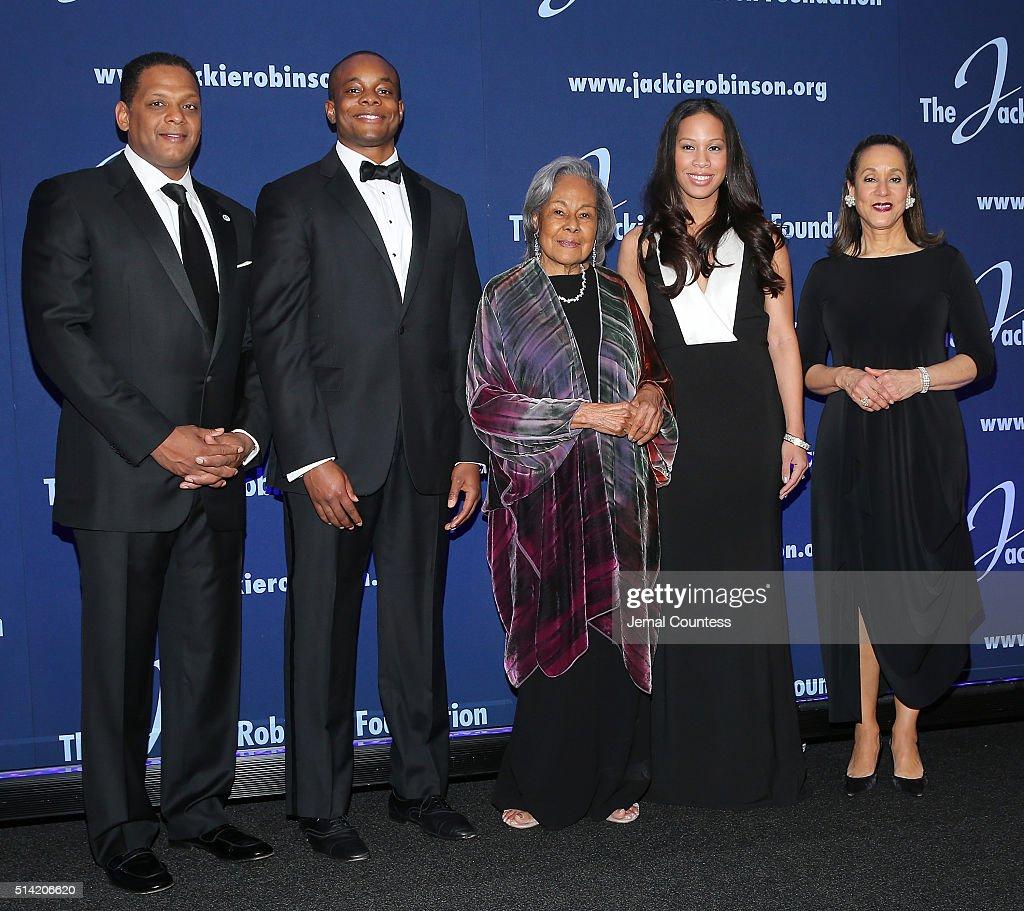 Jackie Robinson Foundation Chairman Gregg Gonsalves Christopher Dean Jackie Robinson Foundation Founder Rachel Robinson Jade Dean and Jackie Robinson...