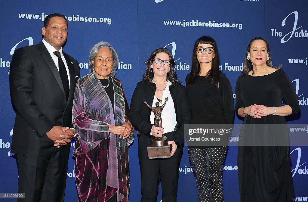 Jackie Robinson Foundation Chairman Gregg Gonsalves Jackie Robinson Foundation Founder Rachel Robinson 2016 Jackie Robinson Foundation Award honoree...