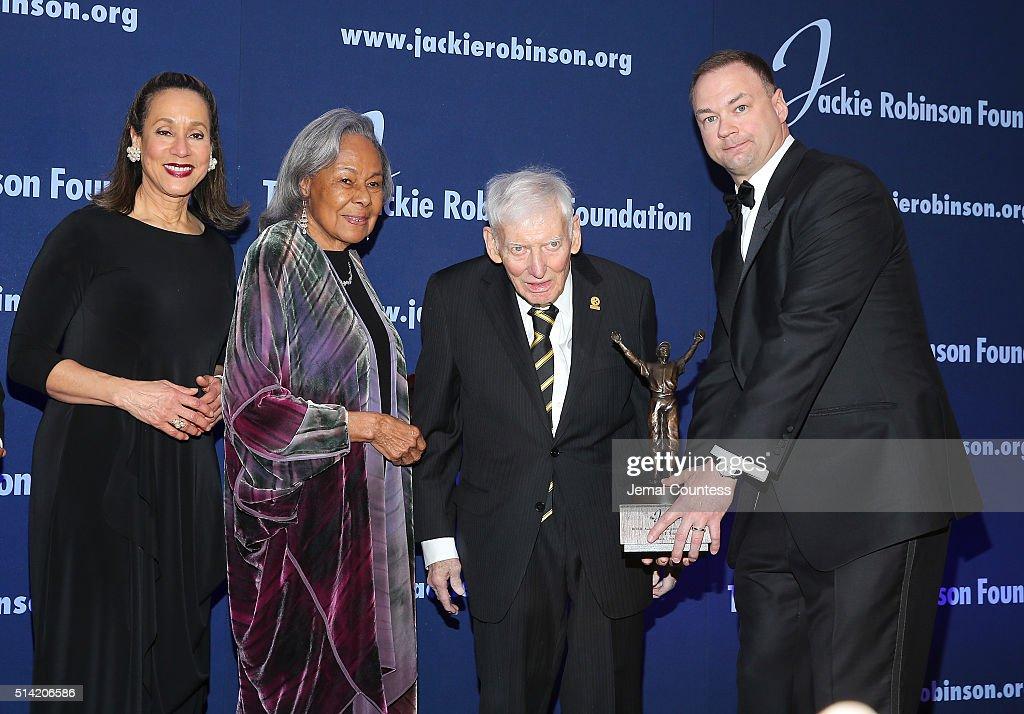 Jackie Robinson Foundation President and CEO Della Britton Baeza Jackie Robinson Foundation Founder Rachel Robinson 2016 ROBIE Lifetime Achievement...