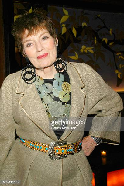 Jackie Rogers attends An Intimate Evening of Food Fashion and Gossip with the Inimitable Jackie Rogers at Jour et Nuit on March 26 2007 in New York...
