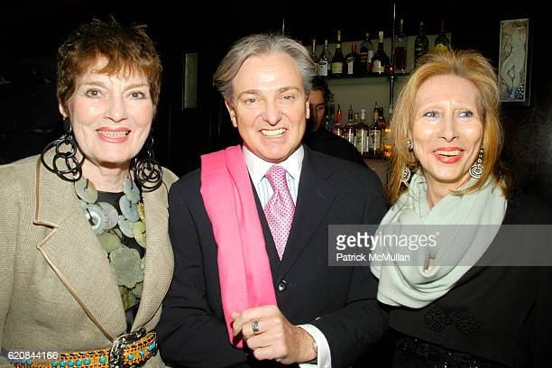 Jackie Rogers Geoffrey Bradfield and Meryl Stern attend An Intimate Evening of Food Fashion and Gossip with the Inimitable Jackie Rogers at Jour et...